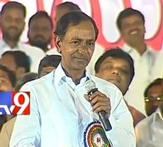 KCR speaks at Telangana Journalists Jatara