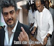 Tamil-cine-stars-vote