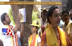 Balakrishna family members campaign in Hindupur