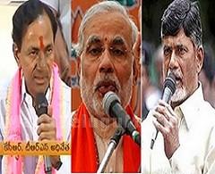 TRS chief KCR Congratulates Modi and Chandrababu