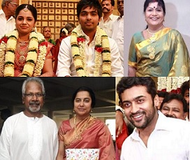 Music Director G.V.Prakash Kumar-Saindhavi Wedding Photos