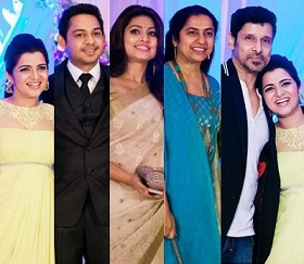 Celebs at VJ Divya Darshini Wedding Reception – Gallery