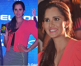 Sania Mirza Launches Celkon Millennium Vouge Q455 Photos