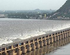 Three bridges across the River Krishna
