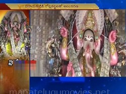 Ganesh idol decorated with currency worth 1 crore in Visakha