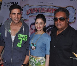Akshay Kumar,Tamanna promotes Entertainment – Gallery