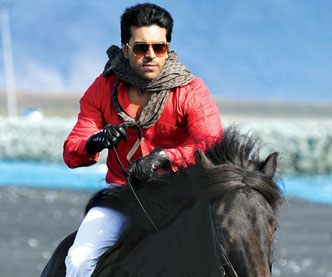 ram charan with horse