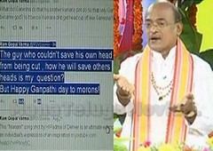Garikapati Narasimha Rao counter to RGV's controversial tweet on Lord Ganesh