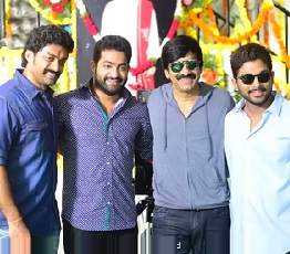 Jr NTR & Allu Arjun Launches Ravi Teja's Kick 2 Movie