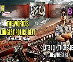 Aagadu organizing the world's 'Longest Police Belt' Show at Vizag Beach