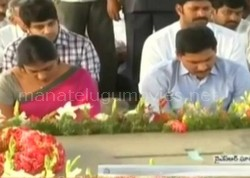 YS Jagan and Family Paying Tribute to YSR || YSR 5th Death Anniversary