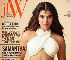 Samantha The New Galmour Goddess on JFW magazine