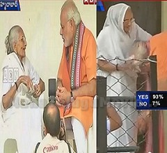 PM Narendra Modi turns 64 : meets mother to seek blessings