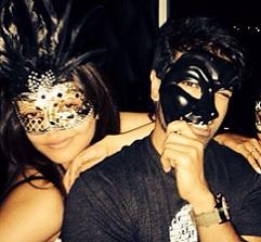 Pic Talk: Kajal and Charan in Masquerade Masks