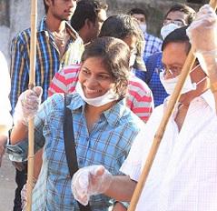 Pic Talk: MS Narayana's Swachch Bharat