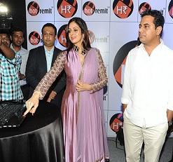 Sri Devi Launches 'HotRemit' Online & Mobile Ewallet Photos