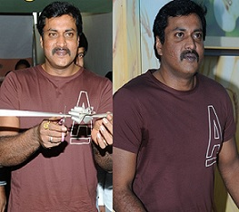 Sunil at Kitchen of Kuchipudi Restaurant Opening Photos