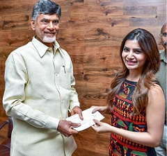 Samantha meets CM for a Nobel Cause