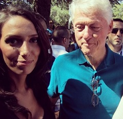 Bill Clinton stares at Woman's Chest!