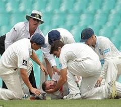 Injured Aus Cricketer Hughes Died