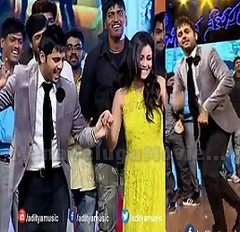 Nithin Dancing On Stage At Chinnadana Neekosam Audio Launch