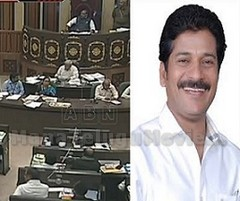 TDP walks out from TS Assembly for not allowing Revanth Reddy to Speak