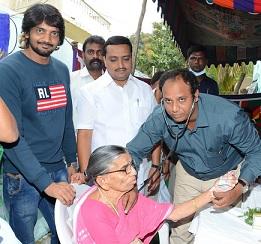 Sairam Shankar at Sri Shirdi Sai Old Age Home Photos