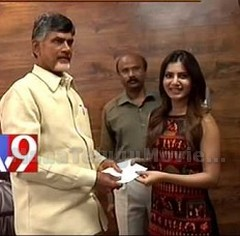 Actress Samantha donates 10 lakhs for Hud Hud Relief