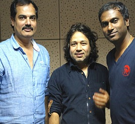 Kailash Kher at Gopala Gopala Song Recording Photos