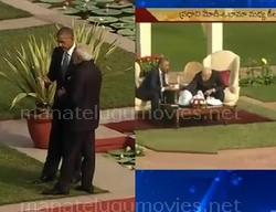 Obama and Modi bond over tea at Hyderabad House