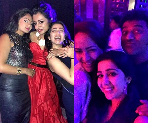 Celebs Unseen Party pics at Trisha Engagement