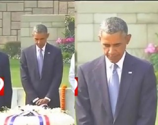 Barack Obama pays tribute to Mahatma Gandhi at RajGhat