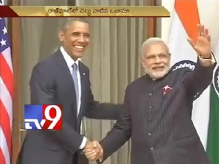 Modi and Obama hold talks at Hyderabad House