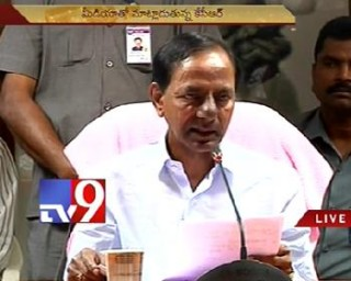 KCR demonstrate TS cabinet decisions to media
