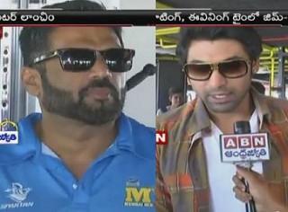 Sunil shetty, Sohail Khan and Rana Daggubati on a Fitness centre launch in Hyderabad