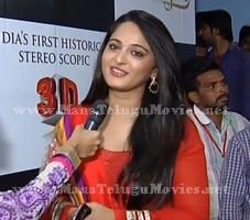 Anushka speaks at Rudramadevi 3D Trailer Launch