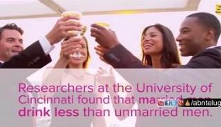 Married men drink less than unmarried men