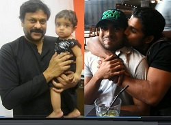 Megastar Chiranjeevi Rare Family Photo Play – Exclusive