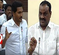 Atchannaidu Vs Y S Jagan over cash for vote case in AP Assembly