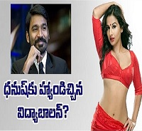 Vidya Balan says no to Dhanush