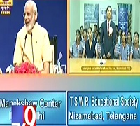 Narendra Modi interacts with Telugu mountaineer Malavath Poorna