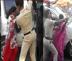 Police brutally beats women in Bangalore