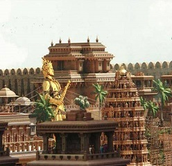Bahubali sets for Amaravathy foundation!