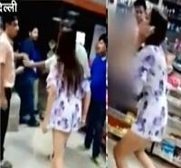 Pooja Mishra caught on CCTV creating ruckus in store in Delhi