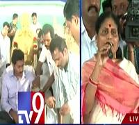 Vijayalakshmi speaks @ YS Jagan deeksha in Guntur