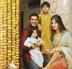 Diwali pic ajay and his family manatelugumovies ajay has been a part of telugu cinema from the last 15 years married to swetha in 2006 has two children and his diwali wish was a treat to the eyes of altavistaventures Gallery