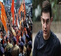 Shiv Sena offers Rs 1 Lakh for slapping Aamir Khan