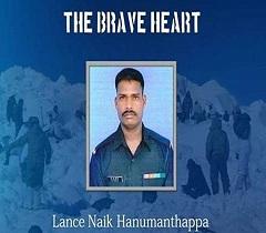 Siachen survivor Hanamanthappa passes away