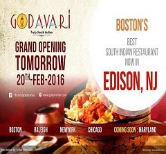 Renowned usa godavari restaurant chain expands to edison for Abhiruchi indian cuisine nj