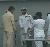 AP CM Chandrababu attends International Fleet Review
